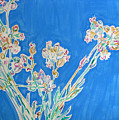 Wild Flowers On Blue by Vitali Komarov