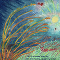 Wild Grasses Playing Haiku And Illustration by Dawn Senior-Trask