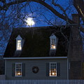 Williamsburg House In Moonlight by Sally Weigand