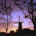 Windmill At Sunset by Casper Cammeraat