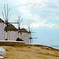 Windmills Of Mykonos I by Madeline Ellis
