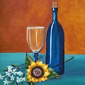 Wine And Flowers by Nancy Sisco