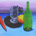 Wine Glass And Fruits by M Valeriano