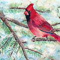 Winter Cardinal by Arline Wagner