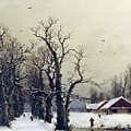 Winter Scene by Nils Hans Christiansen