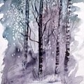 Winter Snow Landscape Painting Print by Derek Mccrea