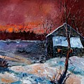 Winter Sunset by Pol Ledent