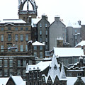 Winter Townscape Scotland by Heather Lennox