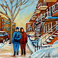 Winter Walk In Montreal by Carole Spandau