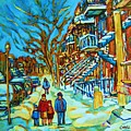 Winter  Walk In The City by Carole Spandau