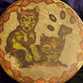 Wolf Pup Drum by Angelina Benson