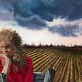 Woman By A Plowed Field by Anne Rhodes