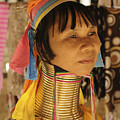 Woman Of The Karen Tribe by Liz Pinchen
