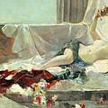 Woman Undressed by Joaquin Sorolla y Bastida