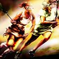 Women In Sports - Lacrosse by Mike Massengale