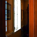Wood And Glass Door by Joanne Coyle