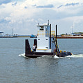 Workboat At Port Canaveral In Florida by Allan  Hughes