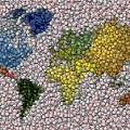 World Map Bottle Cap Mosaic by Paul Van Scott