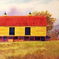 Yellow Barn by Hugh Harris