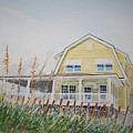 Yellow Beach House Wrightsville Beach by Tom Harris