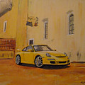 Yellow Gt3 Porsche by Richard Le Page