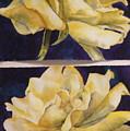 Yellow Roses Diptych by Diane Ziemski