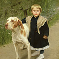 Young Child And A Big Dog by Luigi Toro