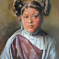 Young Hopi Girl by Synnove Pettersen