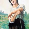 Young Shepherdess Standing After W.bouguereau by Hidemi