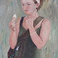 Young Woman And Ice-cream by Masami Iida