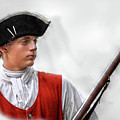 Youthful Soldier With Musket by Randy Steele