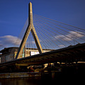 Zakim Bridge And Boston Garden At Sunset by Rick Berk