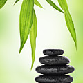Zen Basalt Stones And Bamboo by Pics For Merch