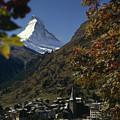 Zermatt Village With The Matterhorn by Thomas J. Abercrombie
