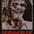 Zombie Bottle Cap Mosaic by Paul Van Scott