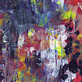 Midnight Wishes- Abstract Art By Linda Woods by Linda Woods