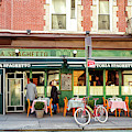 Trattoria Spaghetto Customers In New York City by John Rizzuto