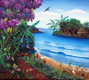Tropical Paradise Nicaraguan Primitive Art Sarah