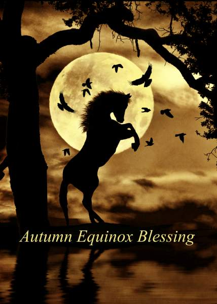 Autumn Equinox Cards or Autumn Fall Greeting Cards