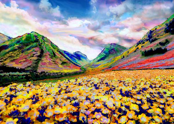 Flowering Hills Paintings