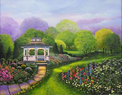 Online Contest Gazebo and Garden Paintings
