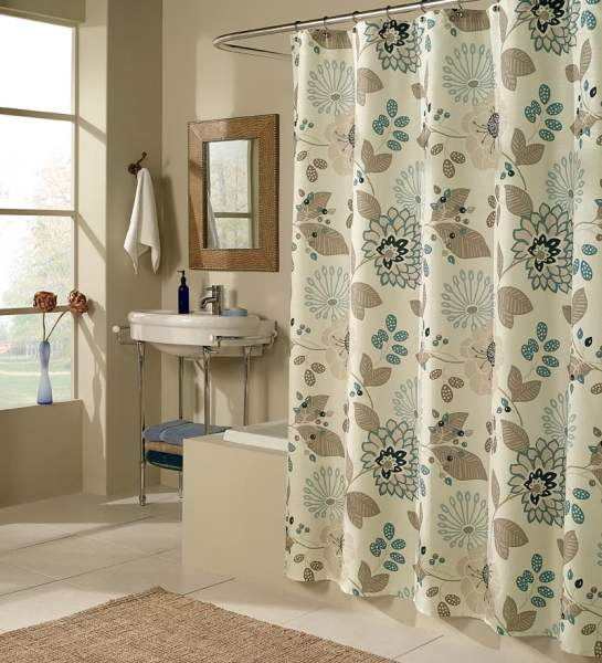 Elegant Shower Curtains   Earth Tones