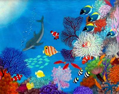 Online contest underwater marine life paintings for Sea life paintings artists