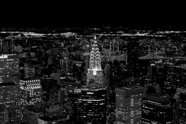 Weekly Photography Challenge Black and White Cityscapes at Night