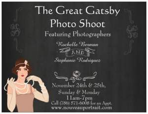 The Great Gatsby Romantic Days Portrait Event