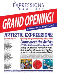 GRAND OPENING ARTISTIC EXPRESSIONS