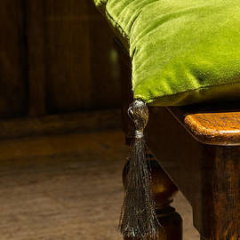 Chay Bewley - Green Cushion on Wooden Chair