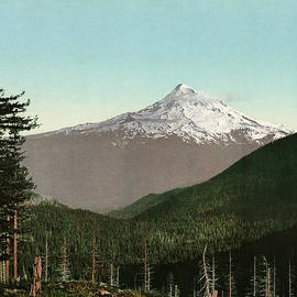 Blue Monocle - Mt. Hood - Oregon - Vintage Photo from circa 1898