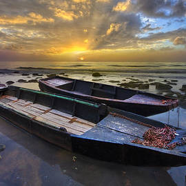 Debra and Dave Vanderlaan - Rowboats at Sunrise