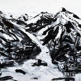 Lidija Ivanek - SiLa - Alps Black And White Painting